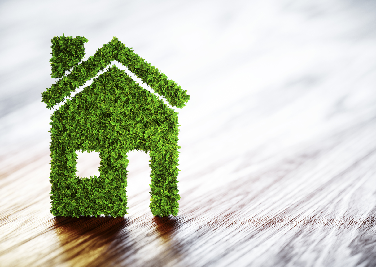concept image of energy efficiency in home