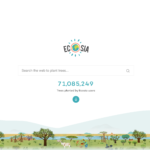 Ecosia search engine's homepage