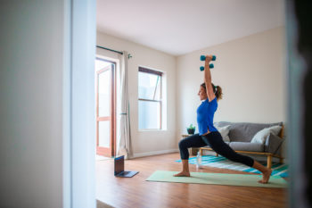 working out at home with weights