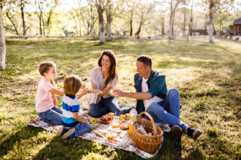 picnic at the park   eco friendly outdoor picnic