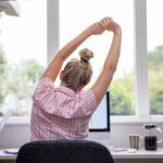 woman in home office | eco-friendly home office