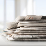 stack of newspapers | reusable materials