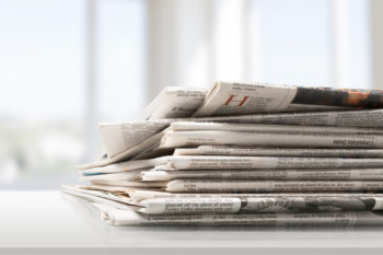 stack of newspapers   reusable materials